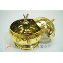 Incense coil holder (with lid)